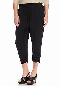 New Directions® Plus Size Ruched Hem Drawstring Pants