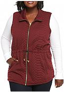 New Directions® Plus Size Solid Textured Vest