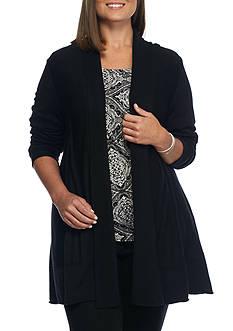 New Directions Plus Size Sunburst Back Cardigan