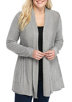 New Directions Plus Size Sunburst Back Cardigan