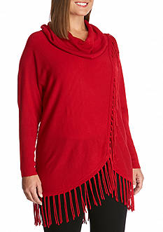 New Directions® Cowl Neck Wrap Body Sweater