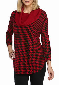 Kim Rogers® 3/4 Sleeve Cowl Neck Sweater