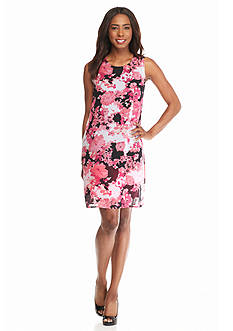 Kim Rogers® Sleeveless Floral Swing Dress