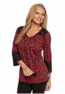 Kim Rogers® Petite Wessex Shadow Hacci Knit