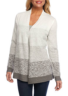 Kim Rogers Petite Open Front Cardigan