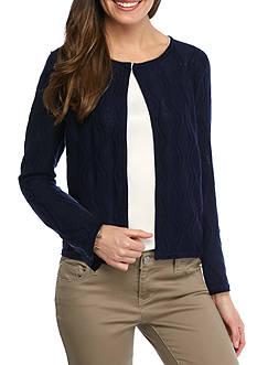 Kim Rogers Petite Size Vertical Chevron Cardigan