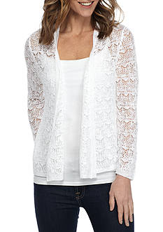 Kim Rogers Three Quarter Sleeve Open Front Cardigan