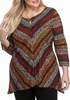 Kim Rogers Plus Size Twist Knot Knit Top