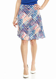 New Directions® Petite Stripe Woven Skirt