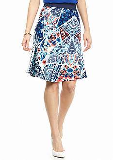 New Directions® Petite Floral Patchwork Skirt