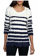 New Directions® Petite Size Hooded Stripe