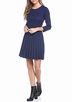 New Directions Petite Solid Rib Knit Dress