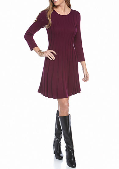 New Directions® Petite Solid Rib Knit Dress