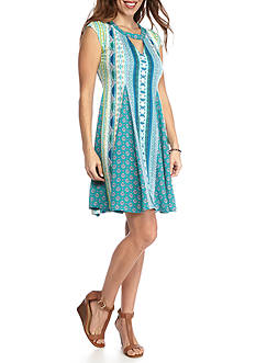 New Directions Petite Mixed Printed Short Dress