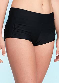 Red Camel Solids Shirred Swim Short