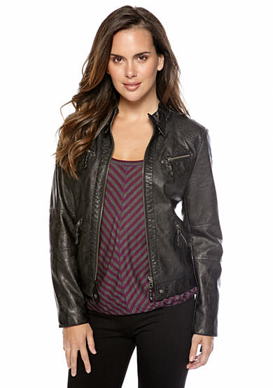 Sophie Max Faux Leather Motorcycle Jacket
