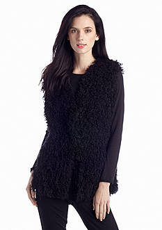 Sophie Max Curly Lamb Faux Fur Vest