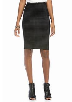 Sophie Max Printed Ponte Skirt