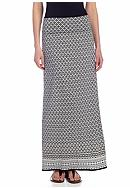 Sophie Max Foldover Printed Maxi Skirt