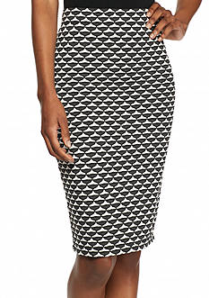 Sophie Max Textured Pencil Skirt
