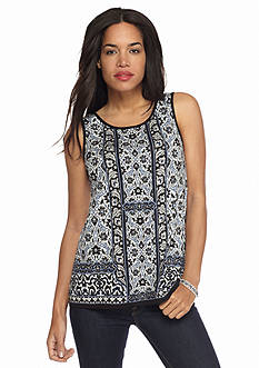 Sophie Max Printed Jersey Knit Tank