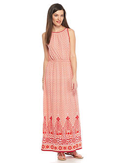 Sophie Max Border Print Maxi Dress