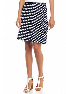 Sophie Max Solid Jersey Short Skirt