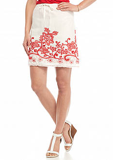 Sophie Max A-Line Border Stitch Skirt