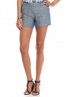 Sophie Max Cross Dye Linen Short