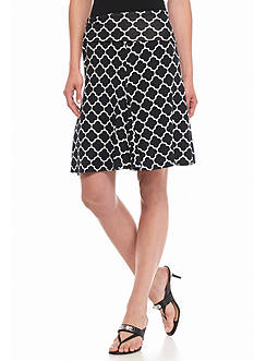 Sophie Max Clover Grid Knit Skirt