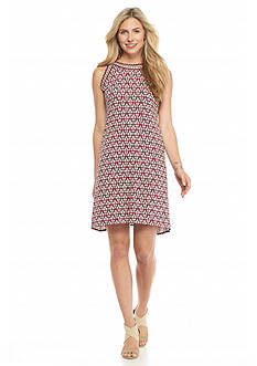 Sophie Max Printed Sleeveless A-Line Dress