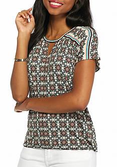 Sophie Max Keyhole Dolman Sleeve Top