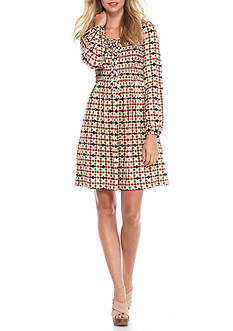 Sophie Max Printed Smocked Dress
