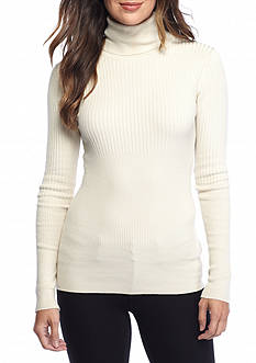 Sophie Max Long Sleeve Ribbed Turtleneck Top