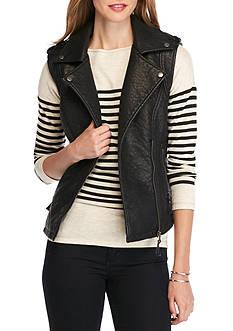Sophie Max Leatherette Moto Vest