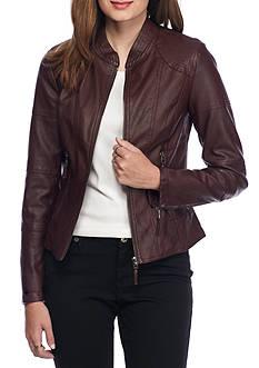 Sophie Max Faux Leatherette Jacket