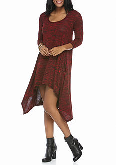 Sophie Max Three-Quarter Sleeve Sharkbite Mini Dress