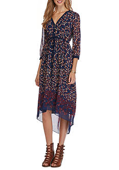 Sophie Max Printed High Low Dress