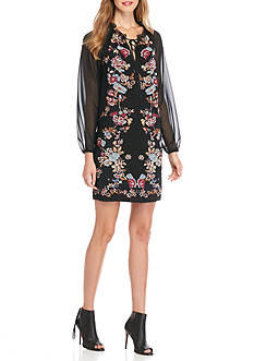 Sophie Max Print Tie Neck Dress
