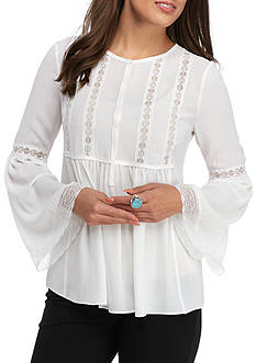 Sophie Max Pleated Front Blouse