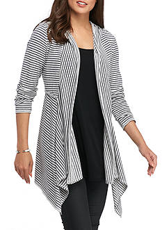 Sophie Max Striped Hooded Cardigan
