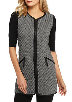 Sophie Max Quilted Knit Vest