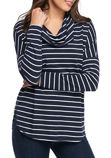 Sophie Max Striped French Terry Top