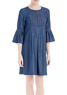 Sophie Max Denim Bell Sleeve Dress