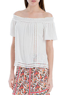 Sophie Max Off the Shoulder Top with Lace
