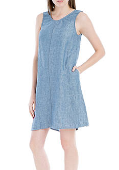 Sophie Max Sleeveless Chambray Dress