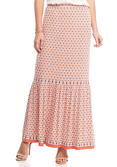 Sophie Max Long Printed Maxi Skirt