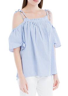 Sophie Max Off-the-Shoulder Stripe Top