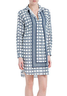 Sophie Max Cotton Crepe Shirt Dress