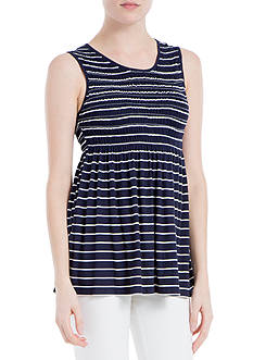 Sophie Max Striped Jersey Top